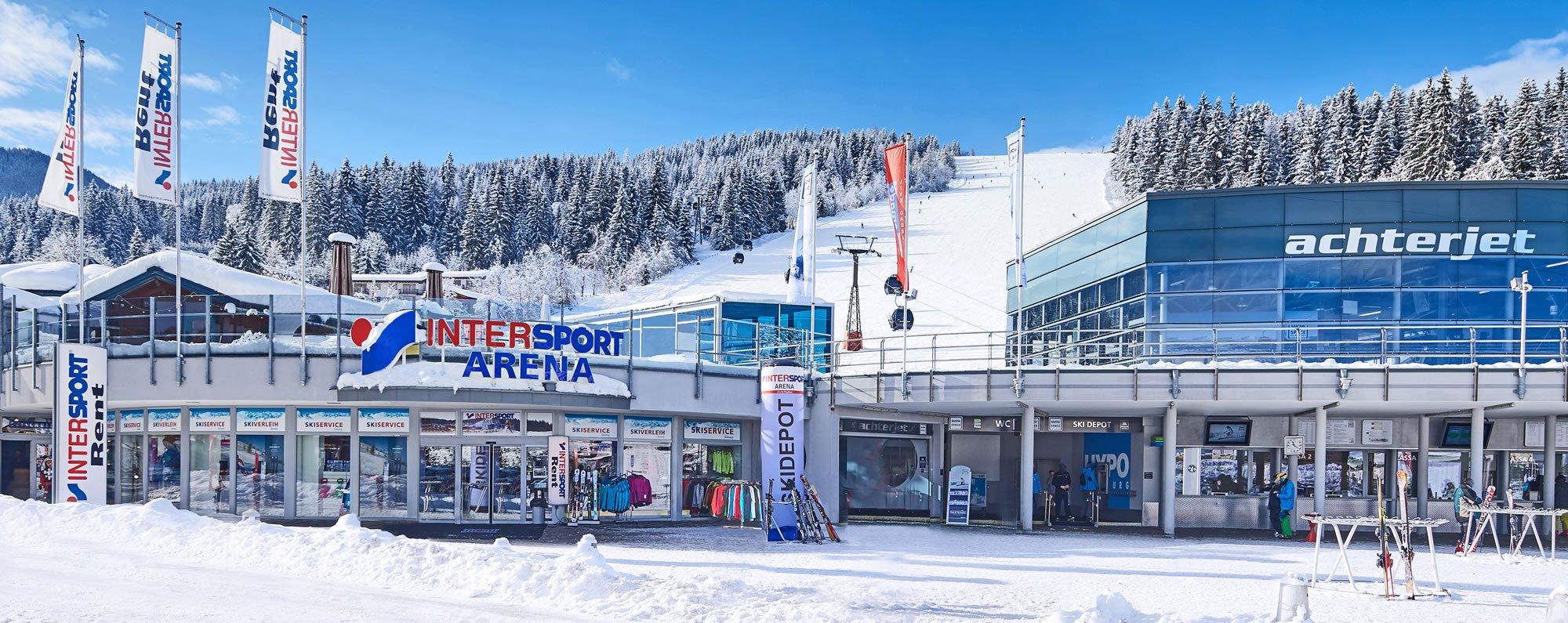 Skiverleih Verkauf Achterjet Sportshop Intersport Arena Flachau